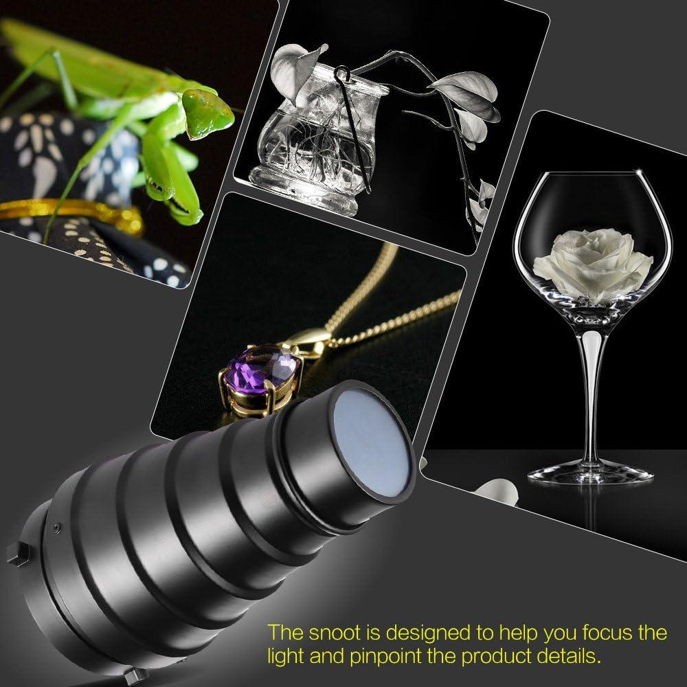 Andoer SN-01 Snoot with Honeycomb Grid 5pcs Color Filter Kit for Speedlite Flash Godox PRO S-Type Bracket Bowens Mount Holder