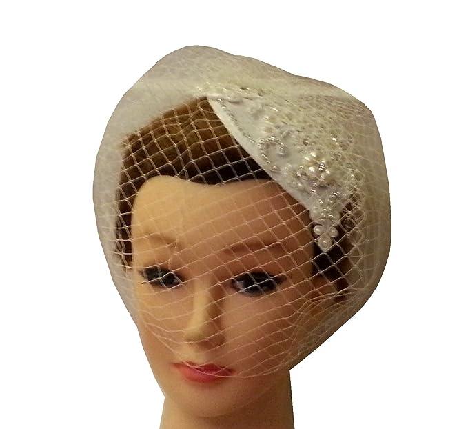 Vintage 1940s-50s Fascinator Veil Hat Tear drop hat birdcage veil Crystal  Fascinator   Veil a0d095666f9