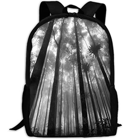bef0b3068 Image Unavailable. Image not available for. Color: SuBenSM Dark Forest  Trees Man & Woman Backpack Daypack ...