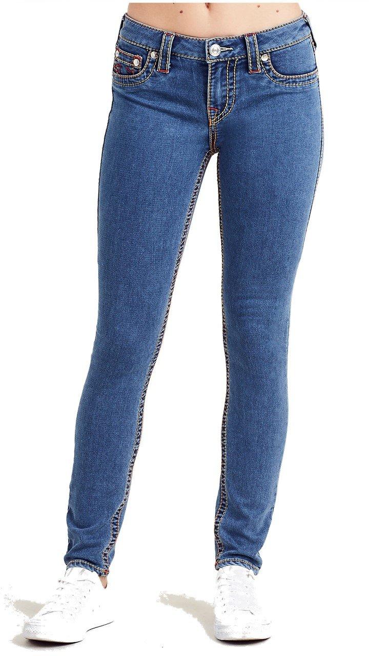 True Religion Women's Super Skinny Leg Big T Jeans in SNW ...
