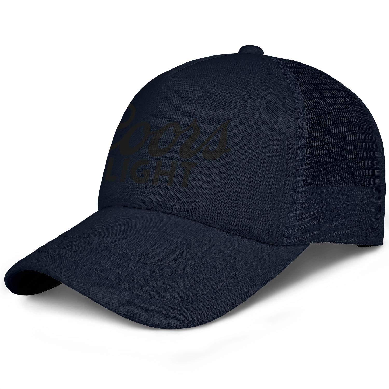 Men Unisex Adjustable Coors-Light-Black-Bottom-Logo-Baseball Cap Sports Flat Hat