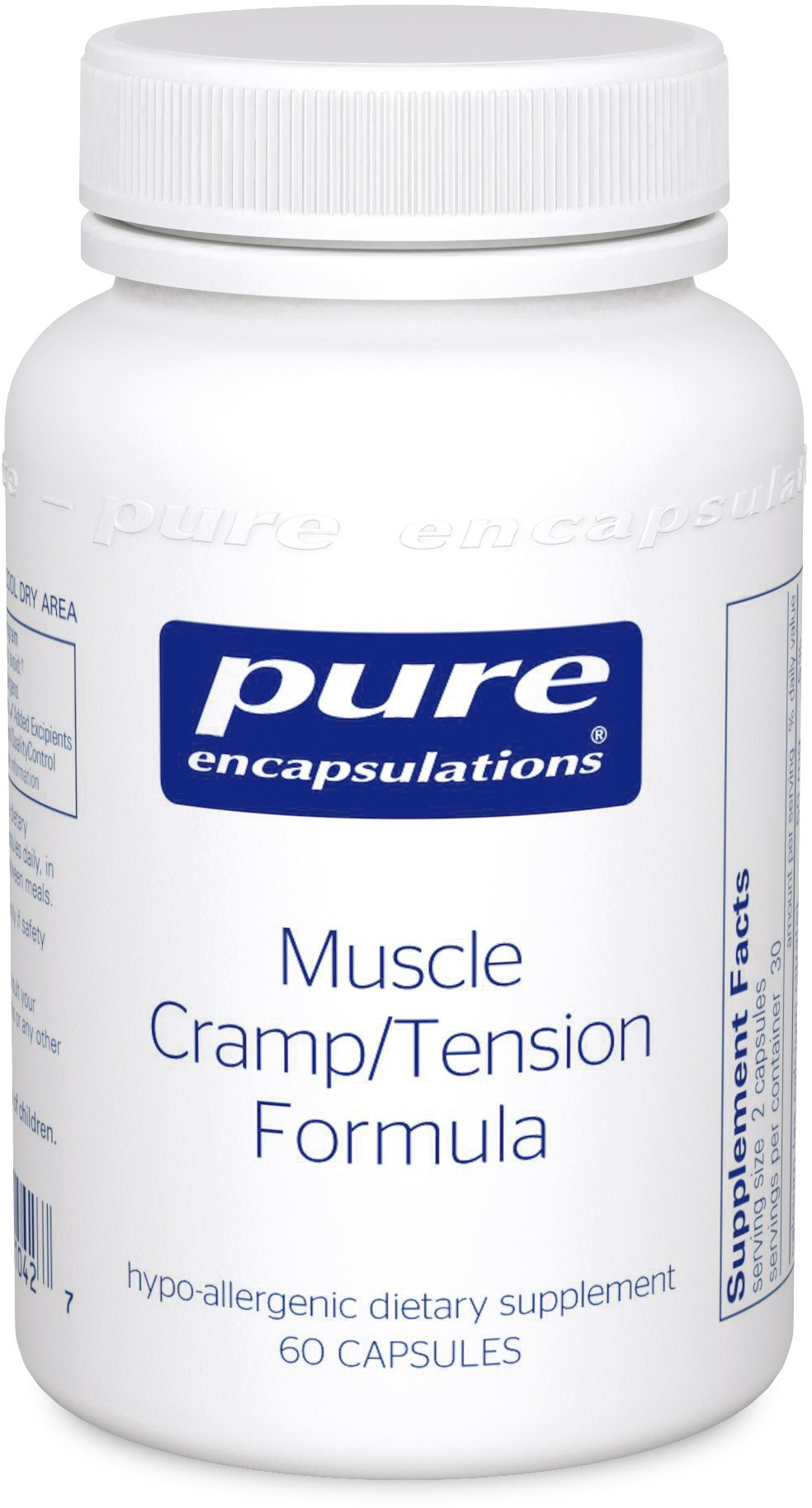Pure Encapsulations - Muscle Cramp/Tension Formula - Hypoallergenic Supplement to Reduce Occasional Muscle Cramps/Tension and Promote Relaxation* - 60 Capsules