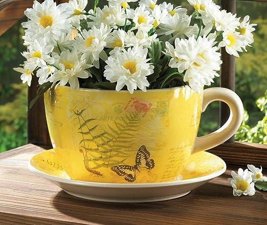 Amazon.com : Garden Butterfly Teacup Planter (Garden Butterfly Teacup  Planter) : Garden & Outdoor