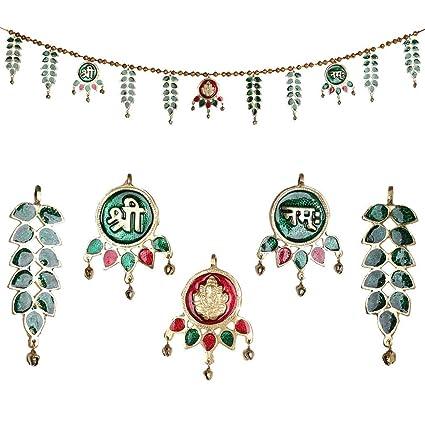 Jaipuri haat Metal Superior Quality Decorative Ethnic Bandarwal Toran Door Hangings  sc 1 st  Amazon.in & Buy Jaipuri haat Metal Superior Quality Decorative Ethnic Bandarwal ...
