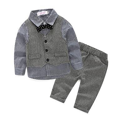 0-24M Das beste Jungen Kinder Baby Gentleman Herbst Kleidung des Babys Taufe Hochzeit Sakkos Anz/üge Hemd