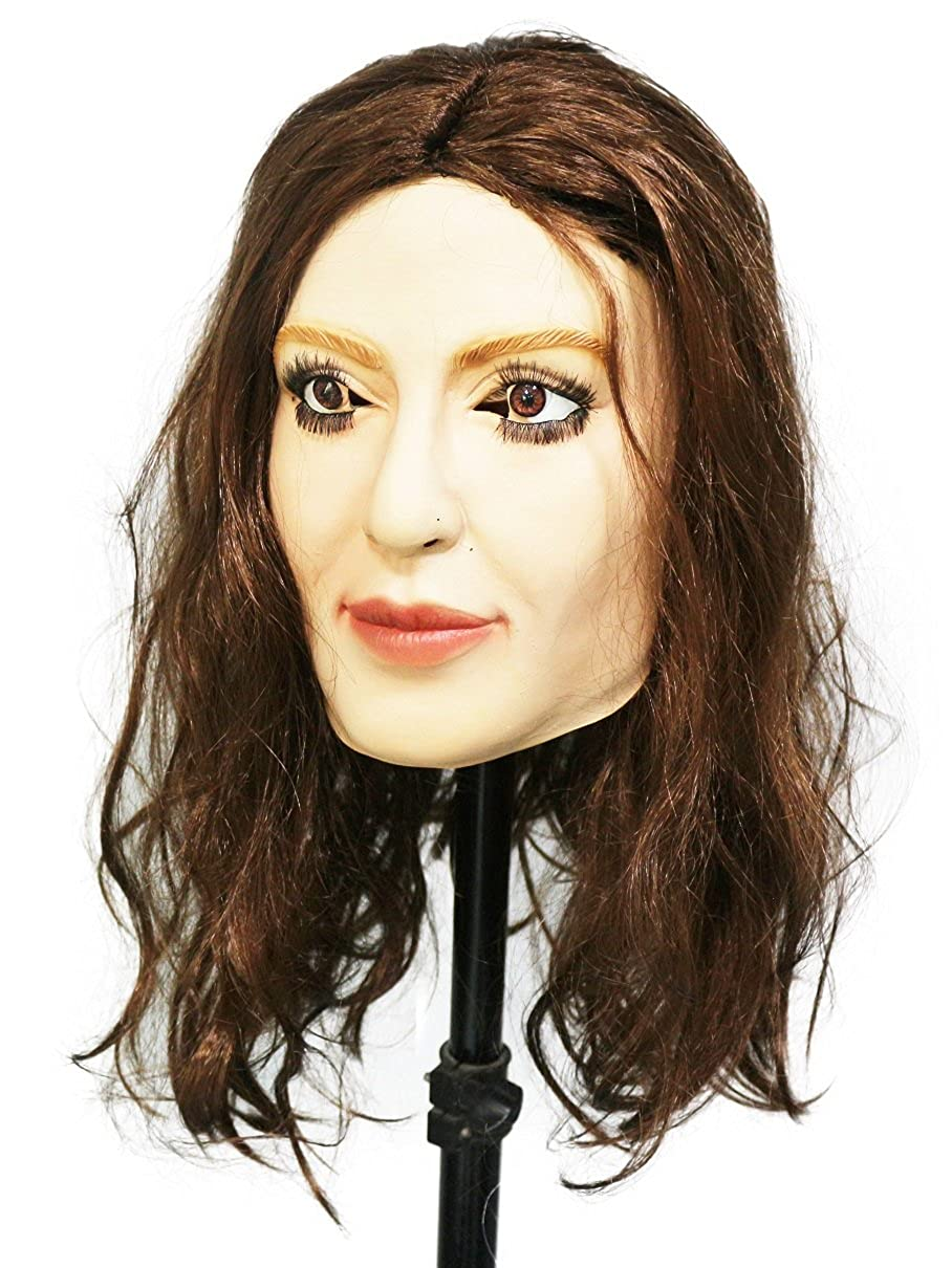 Amazon.com: HENGYUTOYMASK Fancy Dress Costume Latex Crossdressing Female Mask with Bronzing: Clothing
