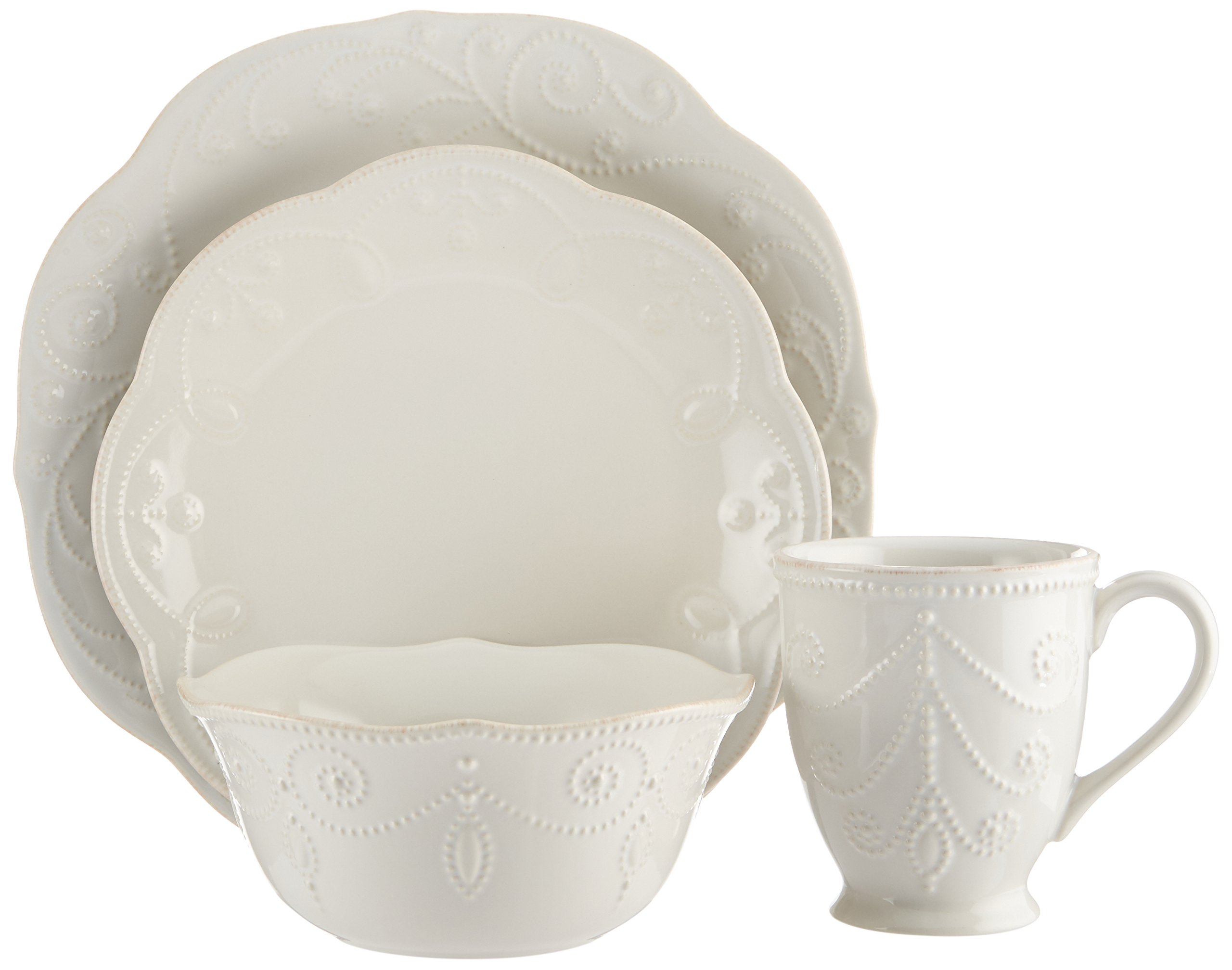 Lenox French Perle 4-Piece Place Setting, White - 822967 by Lenox