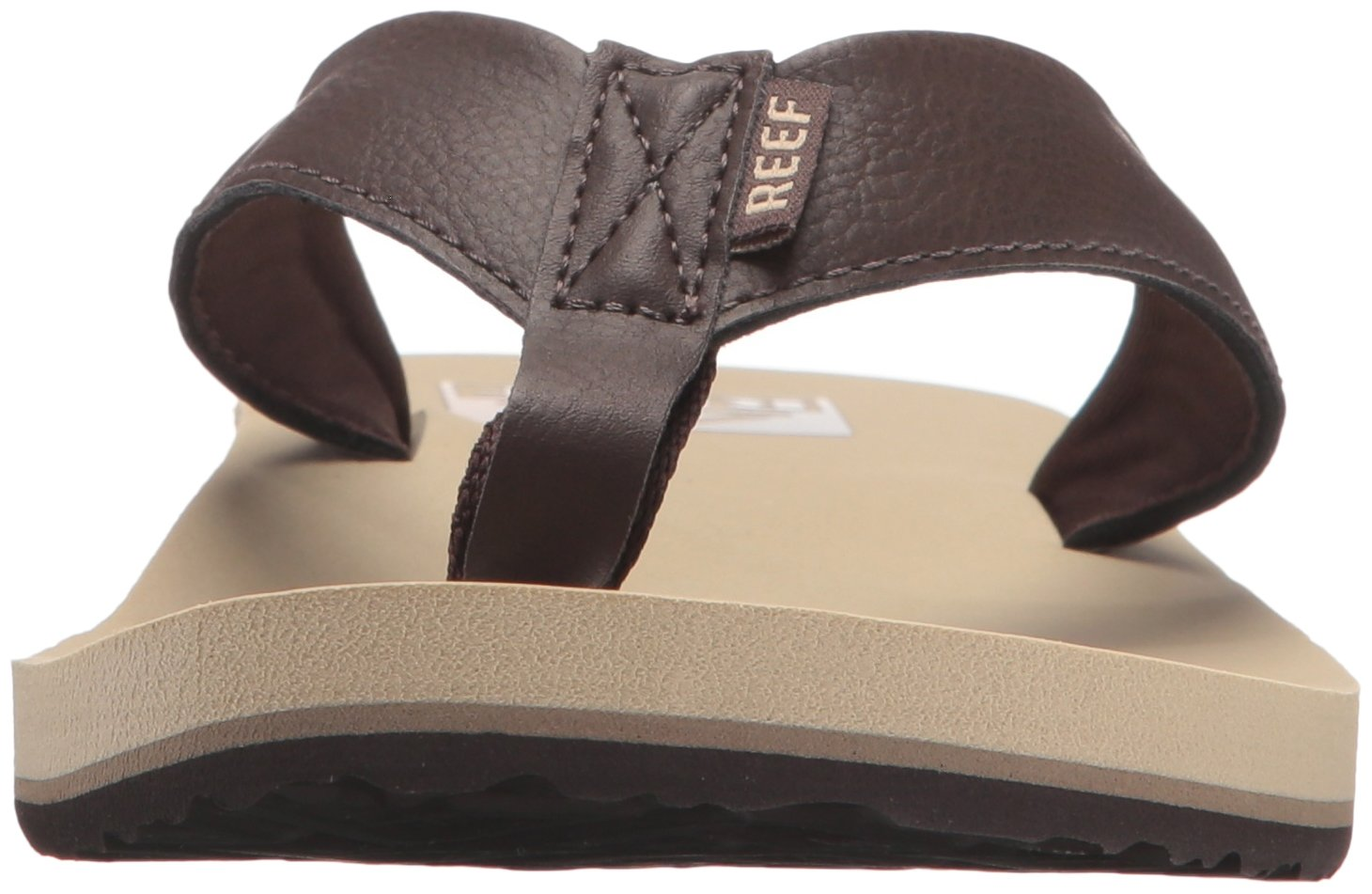 Reef Men's Sandal Twinpin | Comfortable Men's Flip Flop With Vegan Leather Upper, Grey, 7