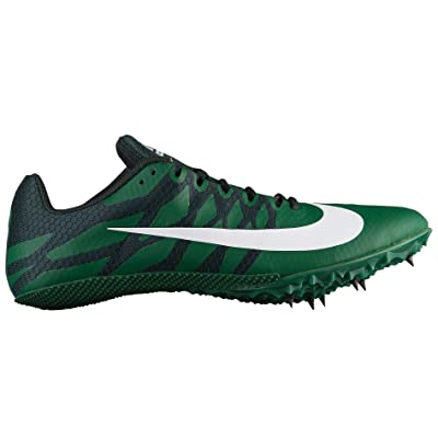 Nike Mens Zoom Rival S 9 Track and Field Shoes (Green/Dark Green/10.5 D (M) US) | Track & Field & Cross Country
