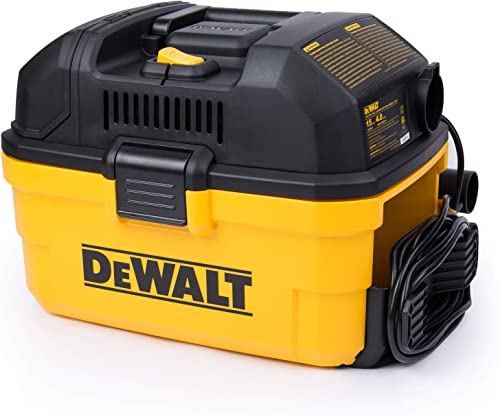 DeWALT Portable 4 gallon Wet Dry Vaccum, Yellow