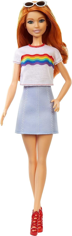 Barbie fashioniste TIR Dye Motivo Stampa Batwing Abito Lungo Nuovo