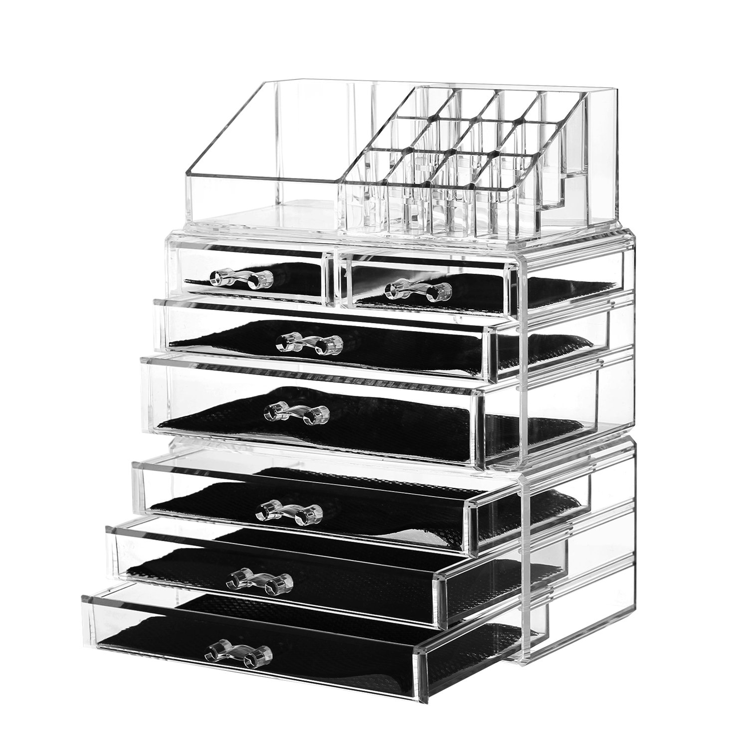 f56973d3d33e Details about Felicite Home Acrylic Jewelry and Cosmetic Storage Makeup  Organizer Set, 3Piece