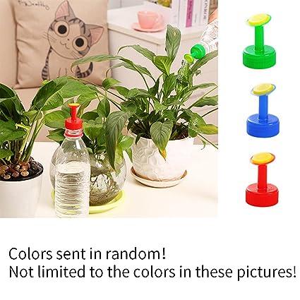SDYDAY 8 piezas botella Capuchón aspersor plástico riego pulverizadores Little Mist boquilla cabeza (color enviado