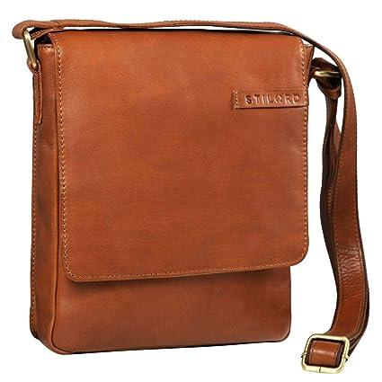 STILORD 'Matthias' Borsello in pelle Borsa a tracolla da uomo in cuoio vintage Piccola borsa messenger porta tablet e iPad da 10.1 pollici di vera