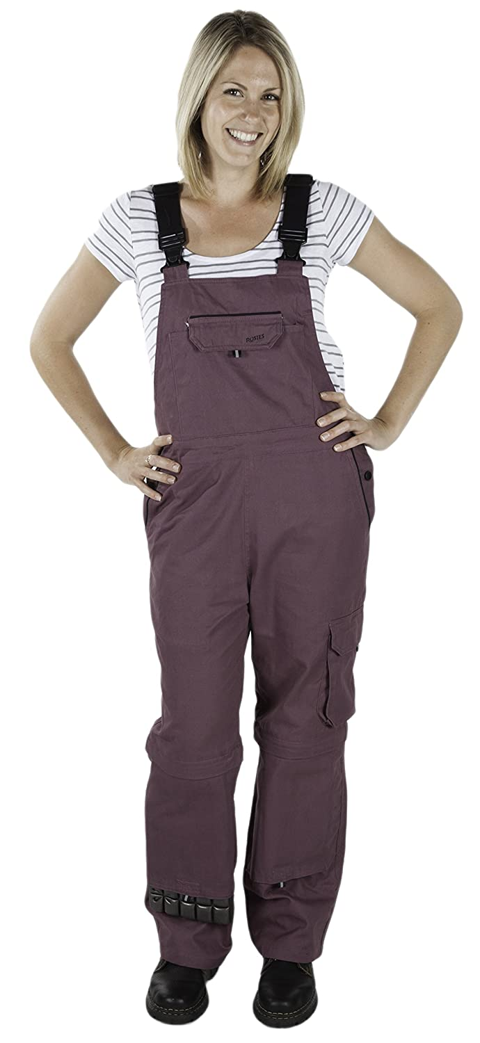 Rosies Work Wear Overalls for Women| Work & Gardening Cotton Bib Overalls with Knee Pads & Multiple Tool Pockets
