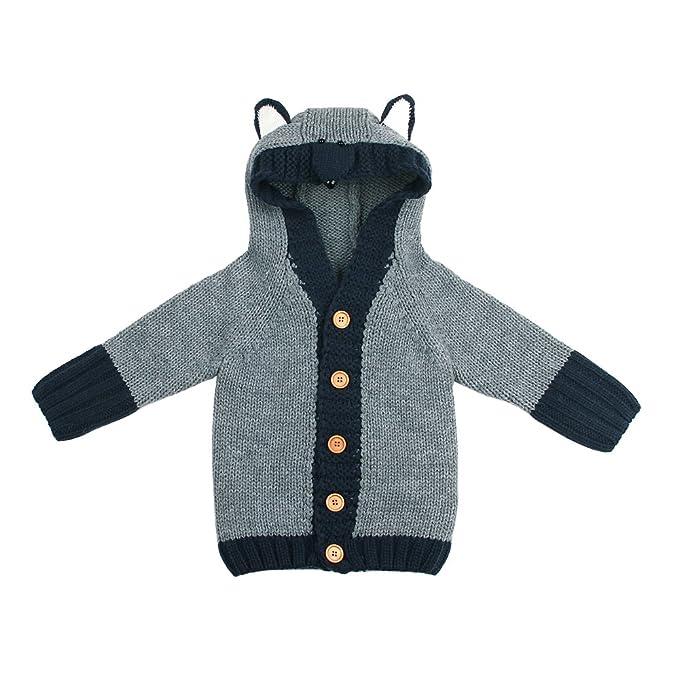 0f97aa110237 Amazon.com  mimixiong Baby Cardigan Sweater Fox Cartoon Hoodie Long ...