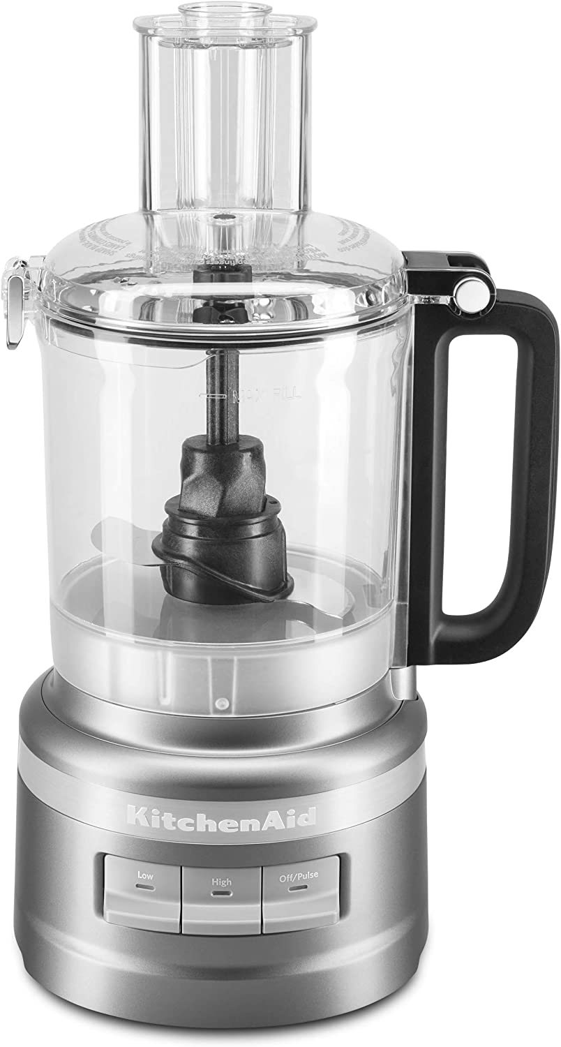 KitchenAid KFP0918CU Easy Store Food Processor, 9 Cup, Contour Silver