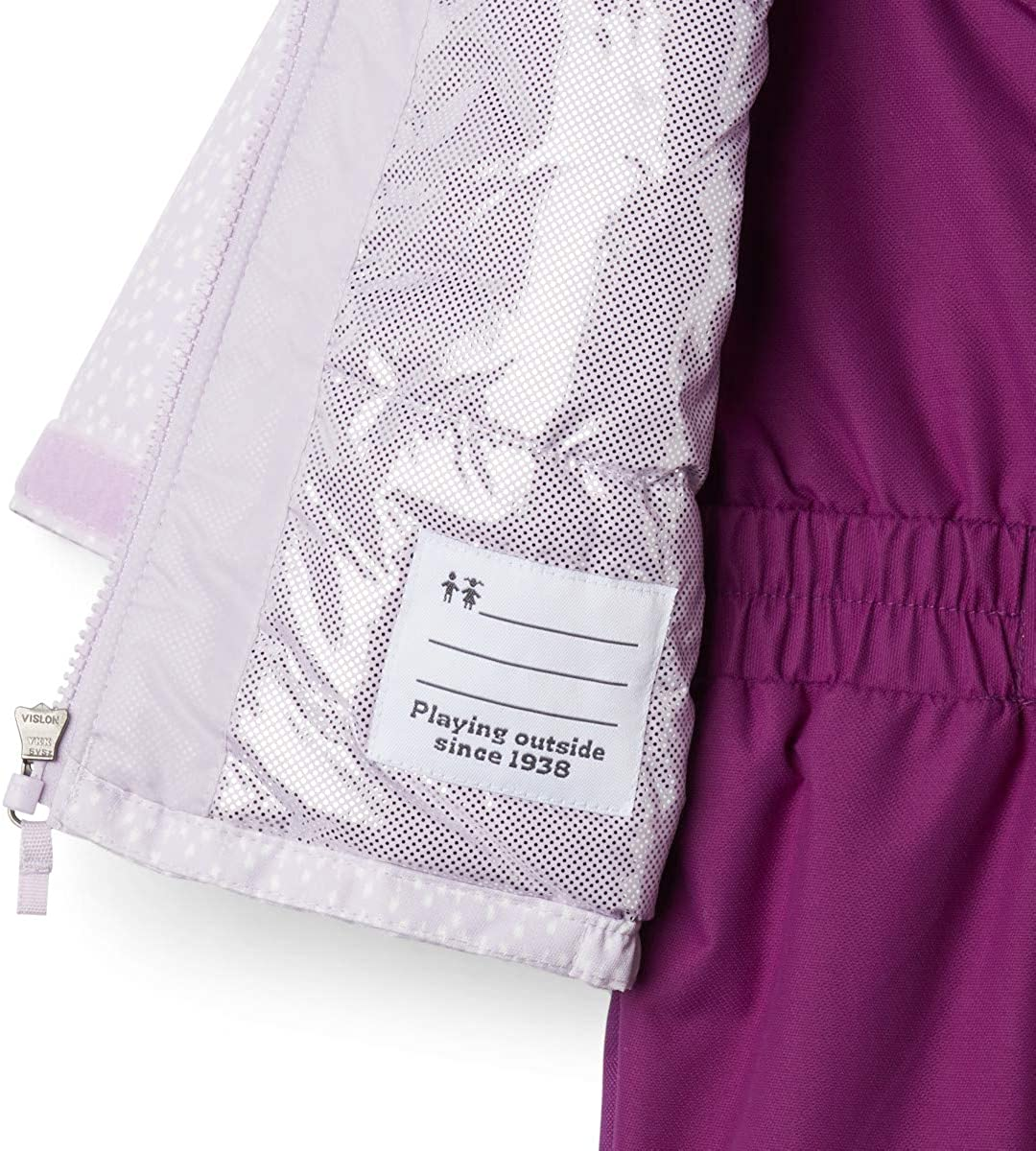 2T Columbia Toddler Girls Buga Set Pale Lilac Sparklers Print//Pale Lilac