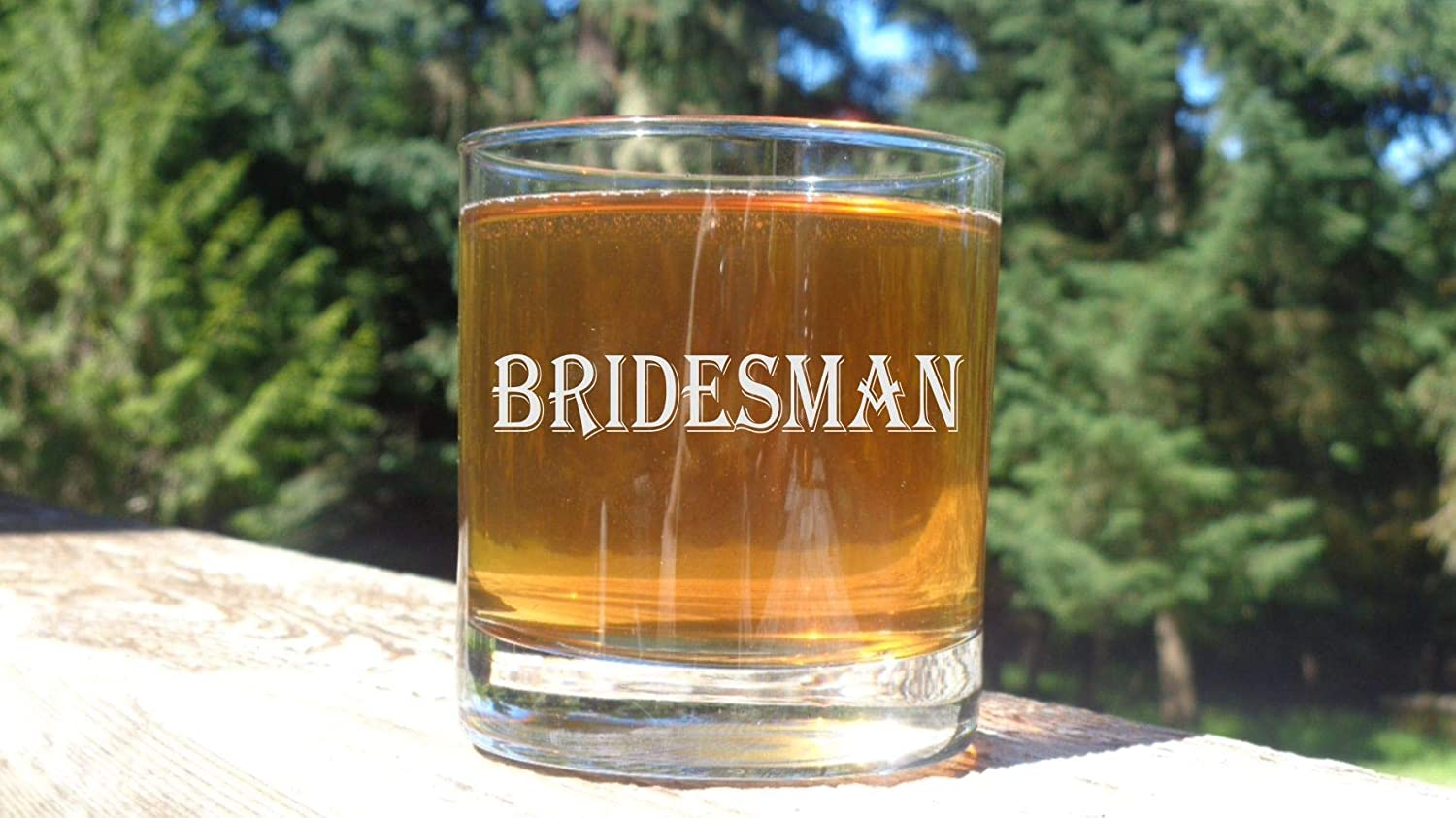 Bridesman Whiskey Glass Male Bridesmaid Bourbon Glasses Gift for Brides Man Wedding Party Glasses
