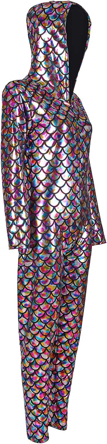 Fish scale Printed Bodysuit Jumpsuit All In One Dancewear Metallic Wet Look Ladies Girls Many Sizes And Colours Cool Wash Festival Wear Metallic Catsuit Gymnastic Leotard Unitard One BFD Shiny Irredescent Sleeveless Footless Dance Catsuit Unitard