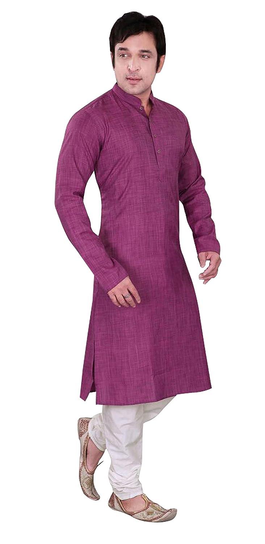 Mens elegante simple exclusivo suave algodón indio kurta pijama ...