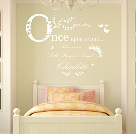 Once Upon a Time Personalised Name, Vinyl Wall Art Sticker Decal ...