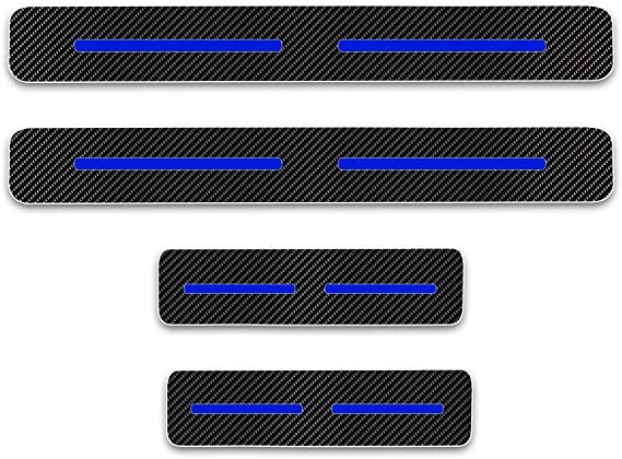 Auto Welcome Threshold Guard Sticker Trim Decorative Styling Accessories JCJFW Carbon Fiber Leather Car Door Sill Protector Kick Scuff Pedal Plates for VOLVO XC40 All Models