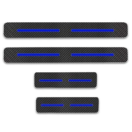 for Nissan Qashqai 4D Carbon Fiber Vinyl Sticker Car Door Sill Protector Door Entry Scuff Plates Auto Accessories Stickers Car-Styling 4PCS