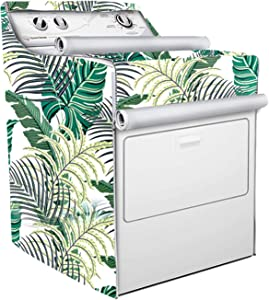 Washer/Dryer Cover,Fit for Outdoor Top Load and Front Load Machine,Zipper Design for Easy Use,Waterproof Dustproof Moderately Sunscreen (Green Forest)