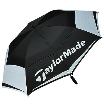 Taylor Made TM Tour Double Canopy Paraguas de Golf, Unisex Adulto, Negro/Blanco