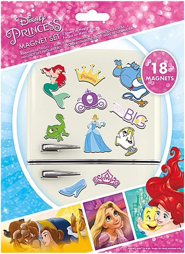 Juego de imanes para nevera de Disney Princes Dream Big de 18 piezas: Amazon.es: Hogar
