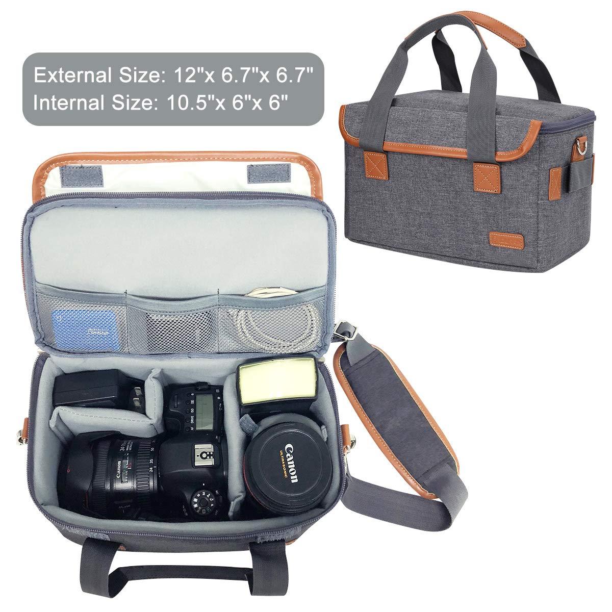 Mochila Impermeable para c/ámara de Fotos de 15,6 Pulgadas con Bolsa para c/ámara DSLR incorporada Color Gris Oscuro Endurax