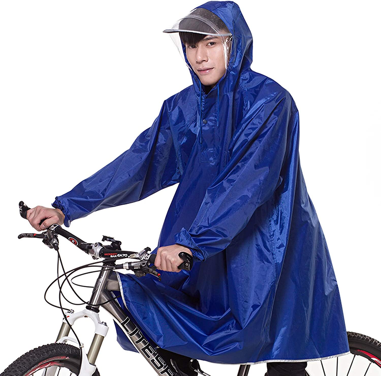 7VSTOHS Poncho de lluvia impermeable ligero al aire libre Ciclismo motocicleta lluvia capa de trabajo al aire libre Poncho impermeable con capucha de ...