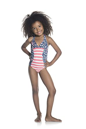 da2f9b3359 Amazon.com: OndadeMar Girls Aluvia Halter One Piece Swimsuit: Clothing