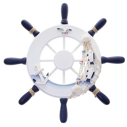 18 Inch Antique Collectors Ship Wheel Decorative For Black~ship Equipments Gift Maritime Maritime Wheels