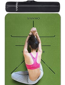 YAWHO - Alfombrilla de yoga (material respetuoso con el ...