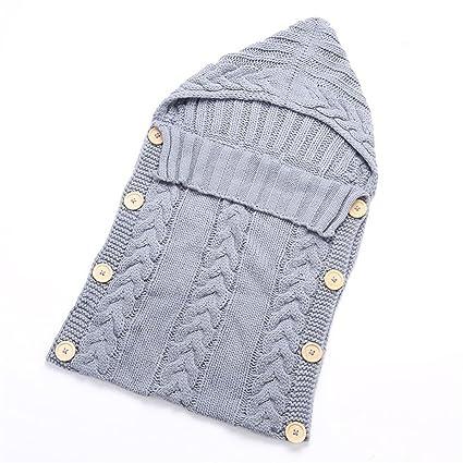pengyu recién nacido bebé Crochet de Punto Bebé Swaddle Wrap muselina manta saco de dormir rosa rosa Talla:talla única: Amazon.es: Bebé