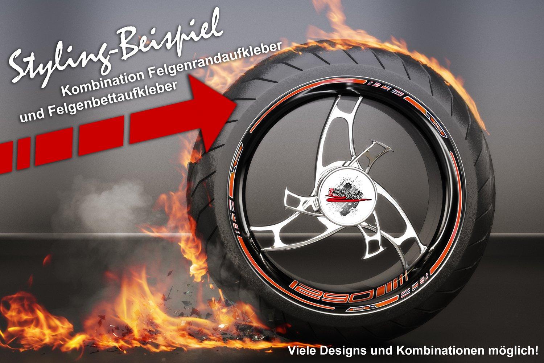 Cerchio bettauf Kleber Set di 790014/va adatto per KTM Moto 1290/Arancione