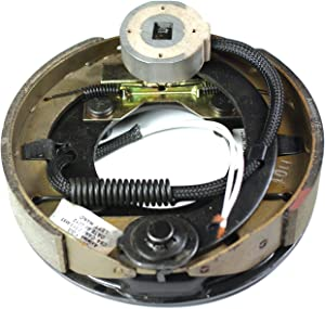 """Husky 30789 Black Painted 7"""" x 1.25"""" Left Hand Electric Brake Assembly - (600 lb. to 2200 lb. Axle Capacity)"""