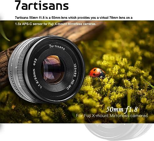 Obiettivo 7artisans 50mm f//1.8 per Fuji X