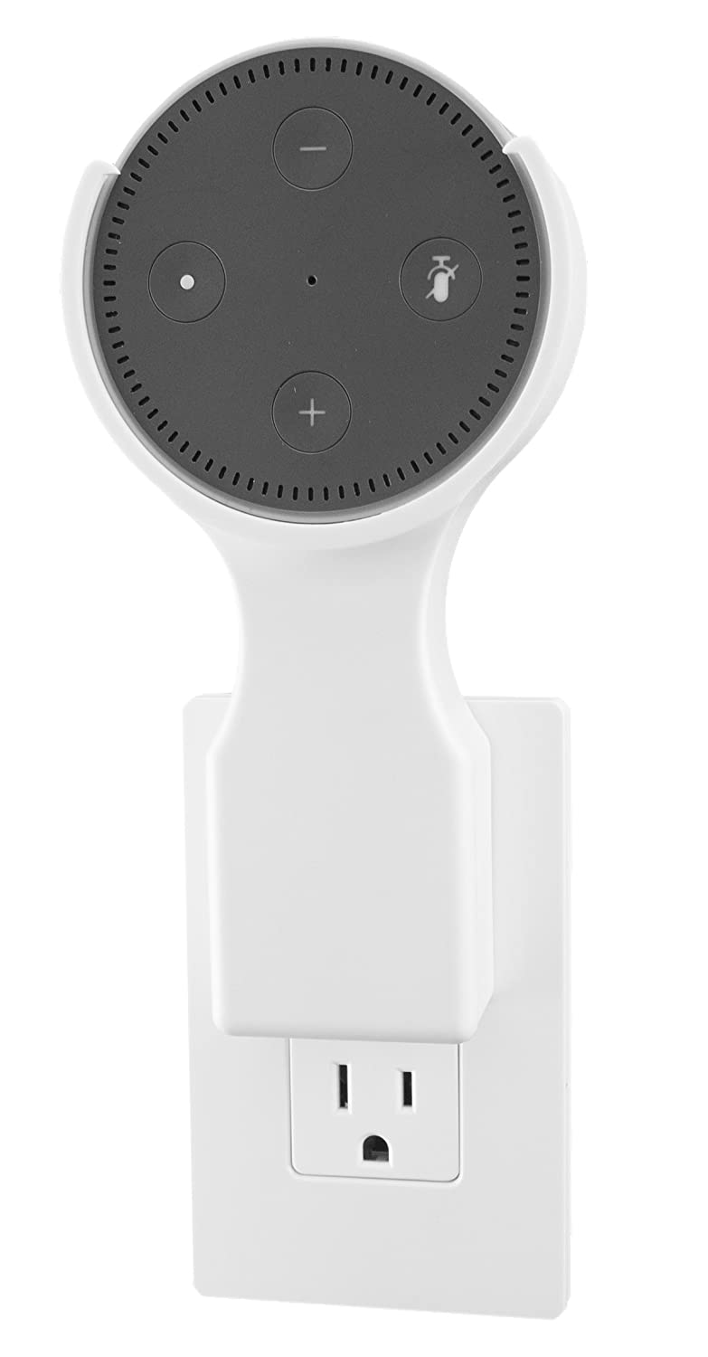 This Dottie - Plug-in Mount - Amazon Echo Dot 2nd Generation Accessory (White) - Designed, Engineered, Tested, and Assembled in the USA