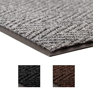 Notrax 118 Arrow Trax Entrance Mat, for Home or Office, 3' X 5' Gray