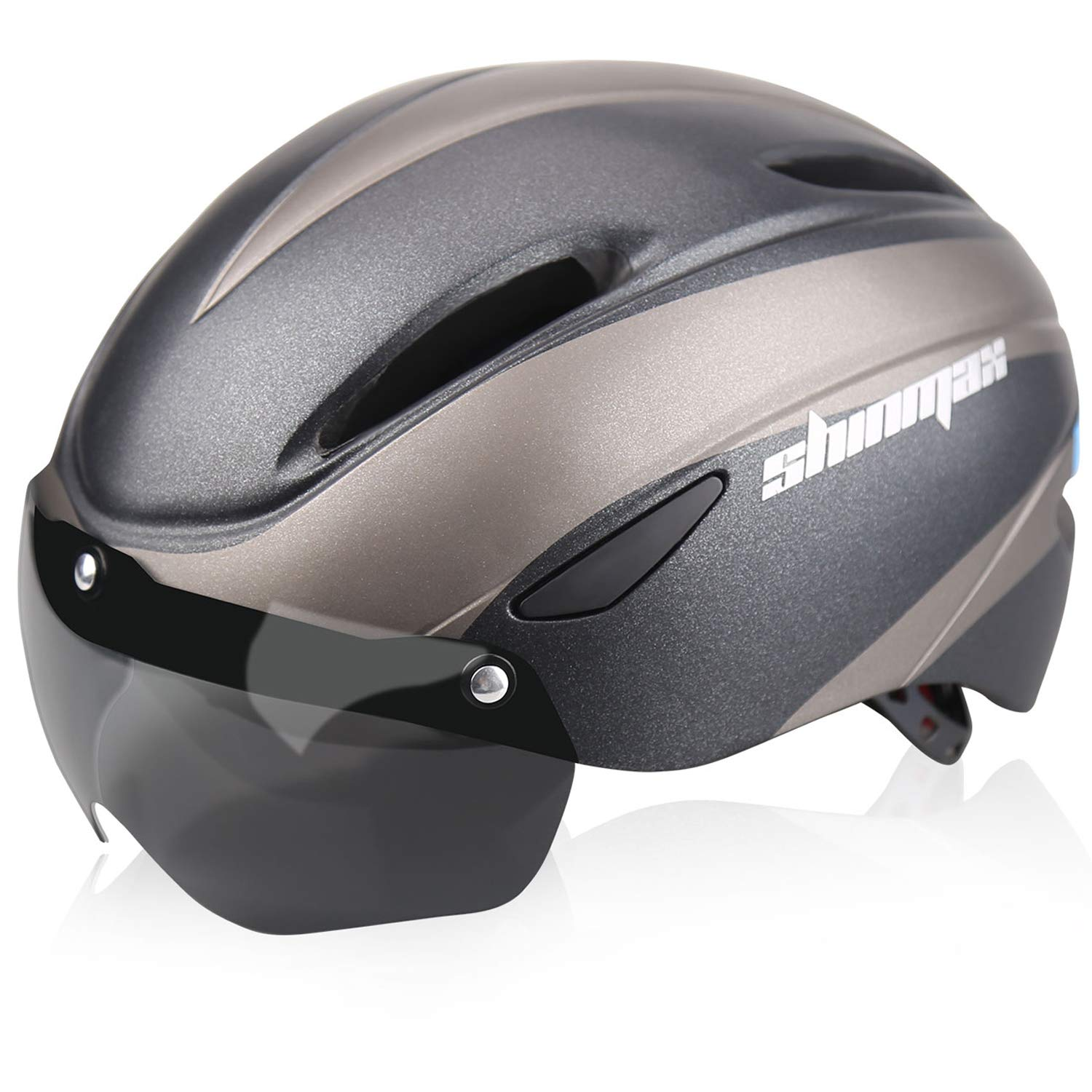 Shinmax Bike Helmet Bicycle Helmet CPSC/&CE Certified with USB Charging Rare Light/&Detachable Magnetic Goggles/&Carrying Bag Adjustable Cycling Helmet for Adult Road//Biking//Mountain//Urban Commuter