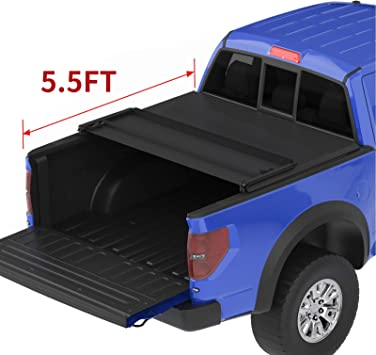 Styleside 5.5 Bed Tyger Auto T3 Tri-Fold Truck Bed Tonneau Cover TG-BC3F1041 Works with 2015-2019 Ford F-150