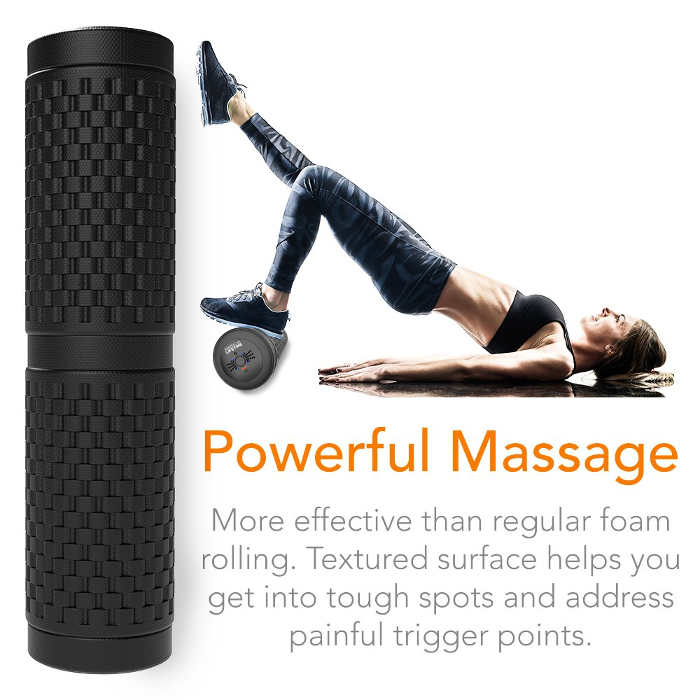 American Lifetime Vibrating Foam Roller - 17 Inch 4-Speed Rechargeable High-Intensity Deep Tissue Massager for Recovery, Pliability Training and Physical Therapy + Bonus Carrying Bag - 1 Year Warranty by American Lifetime (Image #5)