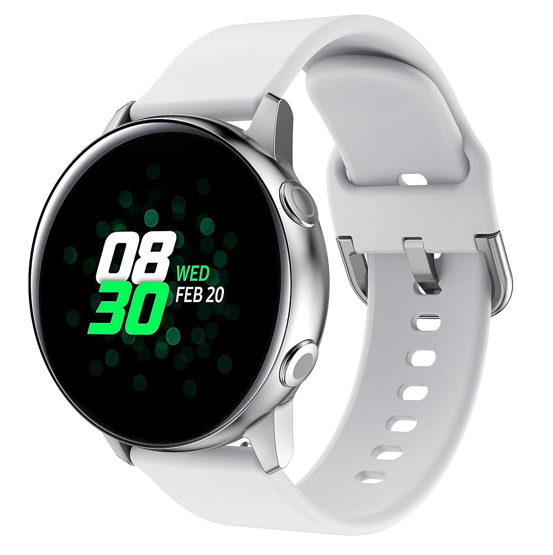 NotoCity Correa para Vivoactive 3, 20mm Repuesto de Correa Reloj de Silicona para Garmin Forerunner 235/245/Amazfip Bip/Huawei Watch 2/Samsung Galaxy ...