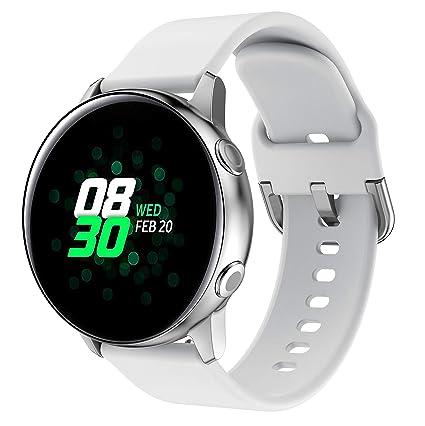 YaYuu Compatible Samsung Galaxy Watch Active/Active2 40mm 44mm Correa de Reloj 20mm Silicona Banda de Reemplazo Pulsera para Galaxy Watch 42mm/Gear ...