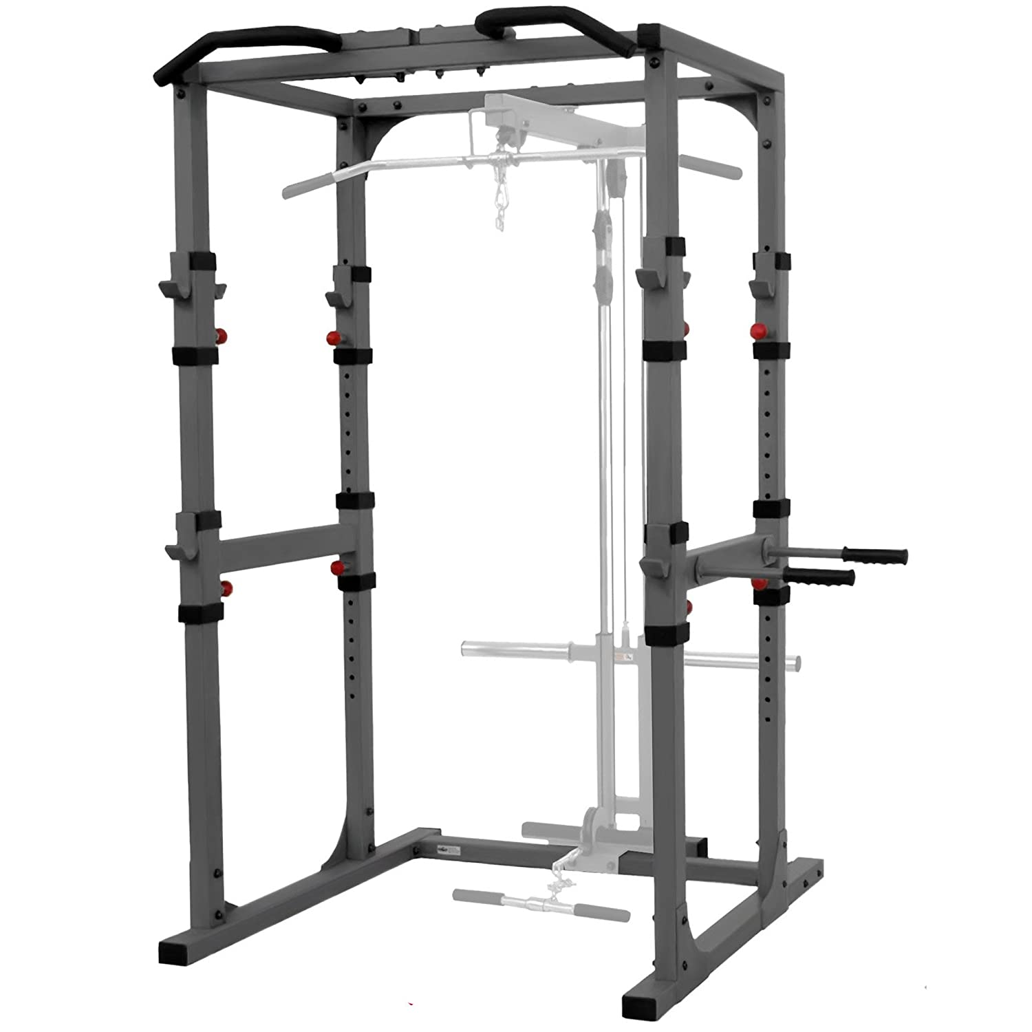 X Mark Fitness Power Rack with Lat Pulldown