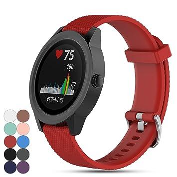 iFeeker pour Garmin Vivoactive 3 GPS Montre Intelligente Sangle Band, de Remplacement Souple en Silicone