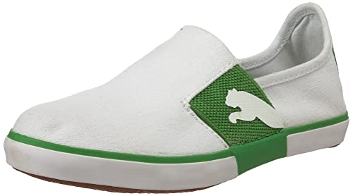Puma Lazy J Slip On Jr Nino Blanco Mocasines Zapatos Talla: Amazon.es: Zapatos y complementos